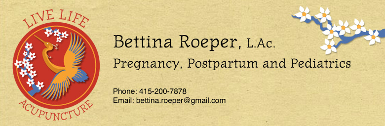 Live Life Acupuncture, Bettina Roeper, Pregnancy & Pediatrics